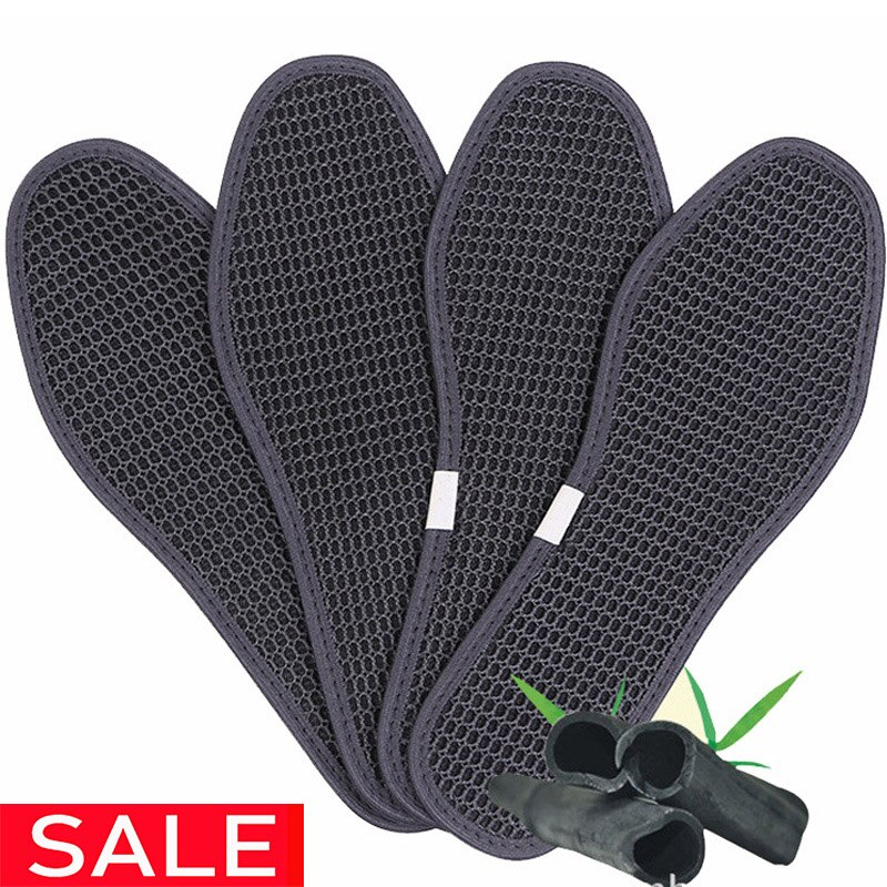 5Pairs/Lot Charcoal dry deodorant antibacterial breathable Shoe Pads Outdoor Hiking Insoles