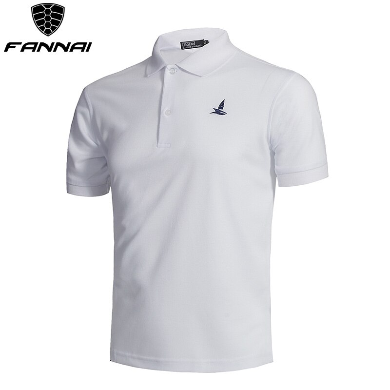 Golf Shirt Black Men Breathable Quick-Dry Sport Training Short Sleeve Sportswear Golf Clothing Polyester Cotton Shirt Summer