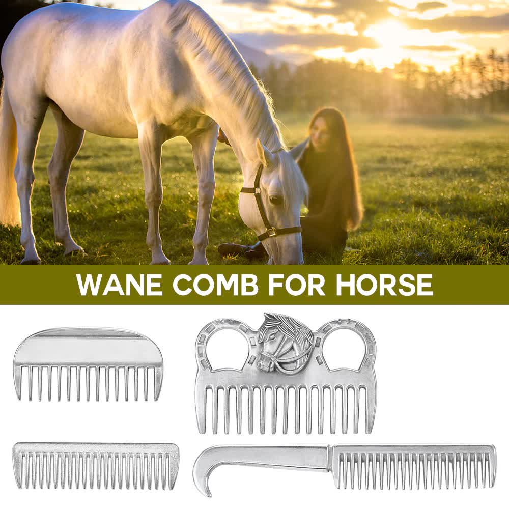 Professional Metal Horse Grooming Comb Tool Aluminum Alloy Horse Comb Mane Tail Pulling Care Products 6.5IN/3.9IN/3.5IN/3.2IN