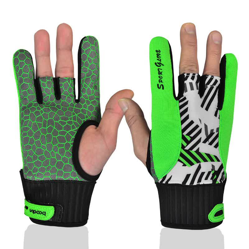 1 Piece BOODUN Pro Men Women Bowling Glove for Right Left Hand Anti-Skid Soft Sports Bowling Ball Gloves Bowling Mittens