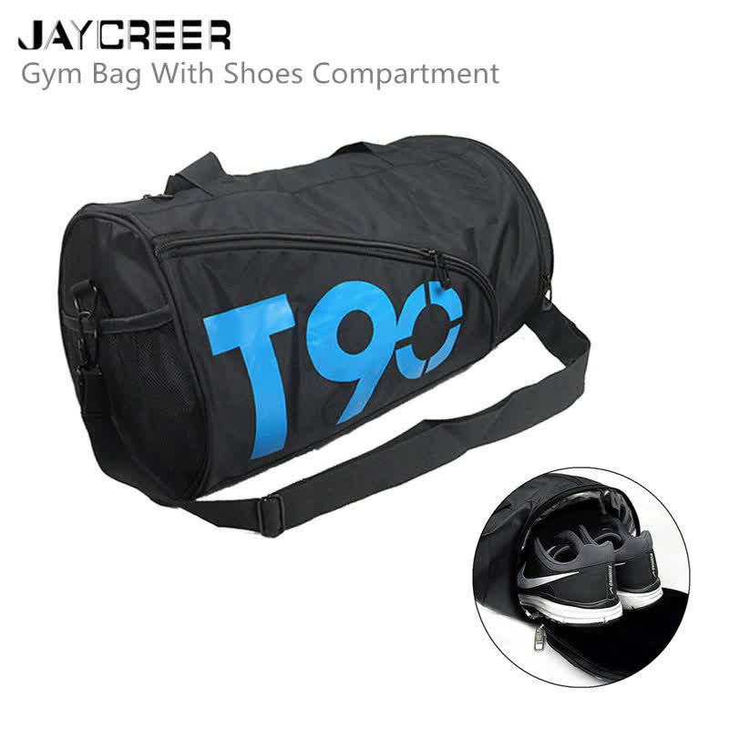 JayCreer Sports Athletic Bags Gym Bag Travel Duffel Bag Sports Shoes Bag For Men And Women T90