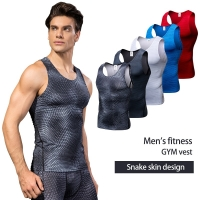 New 2019 Compression Fitness Tights Tank Top Quickly Dry Sleeveless Gym Clothing Summer Workout Running Vest Sports Shirt Men