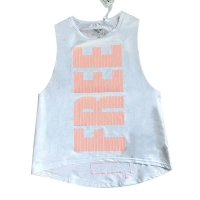 New Female Running Fitness Breathable Sports Gym Mesh Tank Top Letter Printed Yoga Running Jogging Sport Top