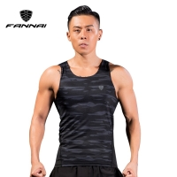 FANNAI Asian M-4XL Men Running Compression Tank Top Vest Gym T Shirts Fitness Sleeveless T-shirts Sports Clothing Jogging Vest