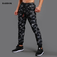 BARBOK Men Sports Training Pants Pockets Hiking Running Autumn Spring Workout Pants Elasticity Legging Jogging Gym Trousers