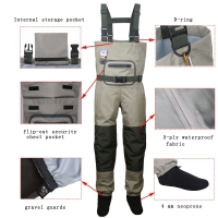 Men's Fly Fishing Waders Hunting Chest Wader outdoor Breathable Clothing Wading Pants Waterproof Clothes overalls stocking foot