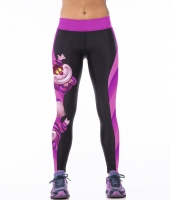 LOVE SPARK Gloomy Owl Printed Purple Big Size Sports Pants S To 3xL Women Vintage Pharaoh Running Tights  3 Patterns