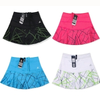 Quickly dry Women's Sports Tennis Skort Short Badminton Skirt with Safety Shorts Striped Tennis Skirt ,female ping pong skorts