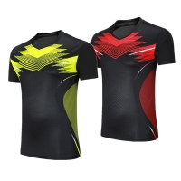 Female/Male Badminton shirts Trainning clothing,table tennis short sleeve sportswear jersey,ping pong/tennis/volleyball t-shirts