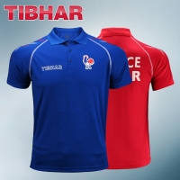 2019 Genuine Tibhar France National Table Tennis Jerseys For Men Women Ping Pong Clothing Sportswear T-shirts