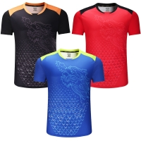New CHINA Dragon table tennis shirts Men , ping pong sport shirts , Chinese table tennis clothes , table tennis Trainning Shirts