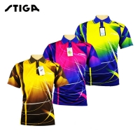 Genuine STIGA Table tennis clothes for men and women clothing T-shirt short sleeved shirt ping pong Jersey Sport Jerseys