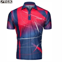 STIGA  Table Tennis Shirt Sport Jerseys  Badminton Jersey  Mujer Hombre Tenis PING POING Clothing