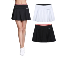 Women Girls Pleated Tennis Skirt With Safety Shorts Mujer Skort Ladies Skorts Sport Skirts Colleague Student Badminton Skirt