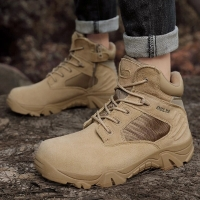 DELTA Men Hiking Shoes Military Desert Tactical Boot Army Shoes Breathable Camping Sport Hunting Climbing Work Shoes Ankle Boots