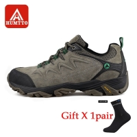 HUMTTO Men Hiking Shoes Non-slip Wear-resistant Climbing Shoes Winter Outdoor Walking Travel Comfortable Big Size