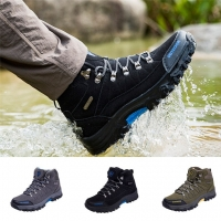 Men Outdoor Sneakers Cotton Fabric Lace-up Hiking Shoes Waterproof Anti-Skidding Male Sports Shoes Dropshipping men shoes