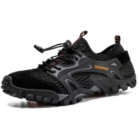 Breathable Mesh Men Hiking Shoes Non-Slip Climbing Mountain Amphibious Shoes Outdoor Fishing Sports Shoes Quick Dry Sneakers