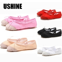 Professional Pink Yoga Slippers Indoor Exercising Shoes Ballet Shoes Dance For Girls Canvas Ballet Dance Girls Kids women