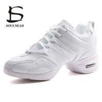 Women's Dancing Shoes Soft Outsole Woman Breath Jazz Hip Hop Shoes Sports Feature Dance Sneakers Ladies Girl's Modern JazzShoes
