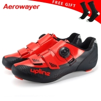 2019 new upline road cycling shoes winter road bike shoes men ultralight bicycle sneakers self-locking professional breathable