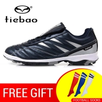 Russian Warehouse! TIEBAO Men Women TF Turf Rubber Soles Football Boots Outdoor Sports Training Soccer Shoes Sneakers EU 39-45