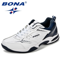 BONA New Arrival Classics Style Men Tennis Shoes Leather Men Athletic Shoes Outdoor Jogging Sneakers Shoes Fast Free Shipping