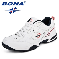BONA New Designer Men Tennis Shoes Leather Popular Sport Shoes Man Outdoor Trainers Popular Sneakers Shoes Comfortable Footwear
