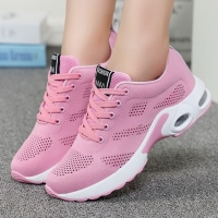 Tenis Mujer Hollow Air Cushion Tennis Shoes Women Breathable Mesh Non-slip Sneakers Outdoor Casual Sport Shoes Pink Lightweight