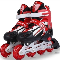 Kid's and Adult Roller Skates Athletic Shoe for Children Men and Women PU Material Skating All Wheels Flash L348OLF