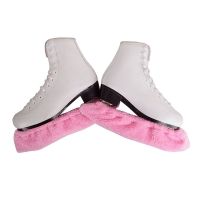 1 Pair Thicken Long Fleece Ice Skating Figure Skate Blade Cover Guard Protector Elastic Anti-rust Water Uptake S M L XL XXL