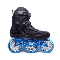 3X110mm Adults Inline Speed Skates for 110mm Max Wheel Racing Skating Shoes with ILQ-9 Bearing CNC Alloy 7075 Skate Frame Base