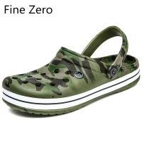 New Men supper cool hollow camouflage green Outdoor Sandals Hollow Slippers hollow sport Light Sandalias Outdoor Summer Chanclas