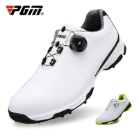 2019 New PGM Golf Shoes Men Sports Shoes Waterproof Knobs Buckle Breathable Anti-slip Mens Training Sneakers XZ095