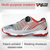 Pgm Golf Shoes Men Sports Shoes Waterproof Male Sports Shoes Knobs Buckle Shoelace Breathable Anti-slip Men Training Sneakers
