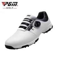 2019 Golf Shoes Mens Leather Waterproof Sneakers Laces Activities Nail Automatic Revolving Spikes Breatheble Golf Shoes D0472