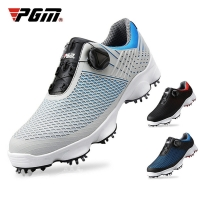PGM Golf Shoes Men's Waterproof Breathable Antiskid Sneakers Male Rotating Shoelaces Sports Spiked Trainers Shoes XZ106