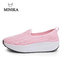 Minika Summer women high quality Lace women sneakers platform heel 5 cm Toning shoes for women deportes y fitnes sapato feminino