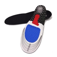 2019 Hot Sale Size 36-46 Unisex Orthotic Arch Support Sport Shoe Pad Sport Running Gel Insoles Insert Cushion for Men Women