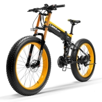 T750Plus Folding Electric Bike, 48V 10A/14.5A Li-ion Battery,1000W Powerful Motor 5 Level Pedal Assist Sensor,Upgraded Fork