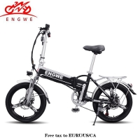 20inch Electric bike Aluminum Folding electric Bicycle 400W Powerful Mottor 48V10A Battery 32km/h Mountain e bike city/Snow bike