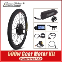 MXUS  Ebike kit 36V 20.4AH 48V 52V 17AH BPM Geared Motor MX01C 01F 01R  Hailong Battery LCD Panel 500W Bicycle Conversion Kit