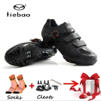 TIEBAO Cycling Shoes black Men Bicycle Mountain Bike Shoes Non-slip Self-locking breathable mtb Shoes Sapatos ciclismo sneakers