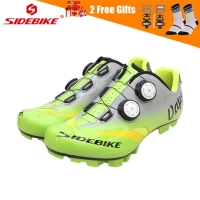 SIDEBIKE Men Self-locking Road Mountain Bike Shoes MTB Anti-slip Breathable Cycling Bicycle Shoes with Carbon or Nylon Sole