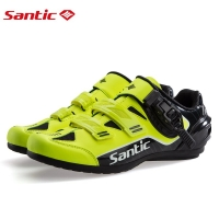 Santic Men No-Lock Cycling Shoes Reflective MTB Shoes Bike Bicycle Rubber Outsole Breathable Road Shoes Zapatillas Ciclismo