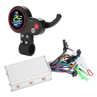 24V 36V 48V 60V 250W/350W Electric Bicycle Bike Scooter Controller LCD Display Control Panel with Shift Switch E-bike Accessory