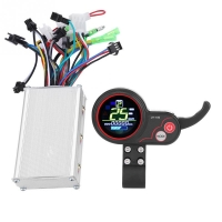 Electric Bicycle Controller 24V 36V 48V 60V250W/350 Electric Bike Scooter Controller LCD Display Control Panel with Shift Switch