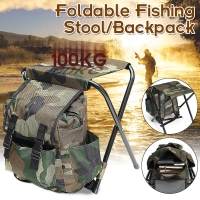 Folding Portable Fishing Chair Fishing Backpack Chair Stool Convenient Wear-resistantv for Outdoor Hunting Climbing Equipment