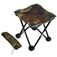 Camping Hiking Beach Portable Fishing Chair Camouflage Folding Stool Recreational Fishing Gear