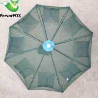 6-8 Hole Fishing Net Folded Portable Hexagon Fish Network Casting Nets Crayfish Shrimp Catcher Tank Trap China Cages Mesh Cheap